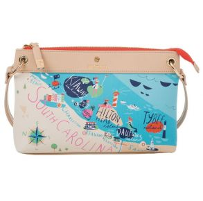 Greetings from Sea Islands Map Crossbody